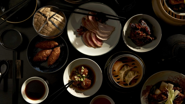 Spice Temple yum cha: a selection of dishes