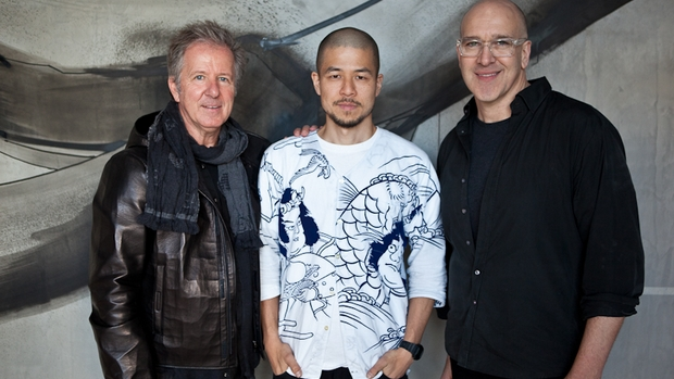 jun inoue art piece with Frank Van Haandel and Anthony Musarra