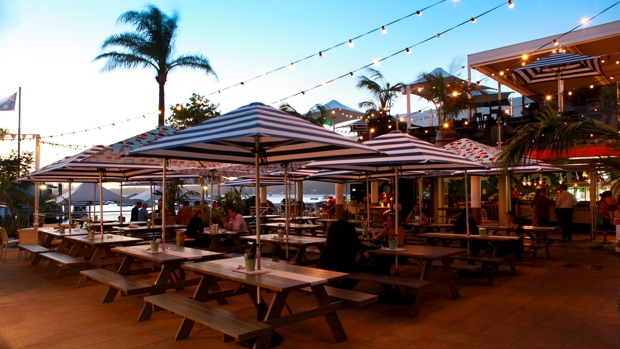 Watsons Bay Hotel_Picnic Seating Dusk_hero